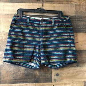 Merona Multi Color Polka Dot Navy Blue Shorts